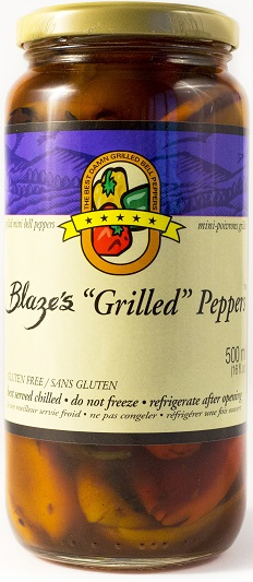 Grilled Mini Bell Peppers Box (3 Jar) 16 oz each